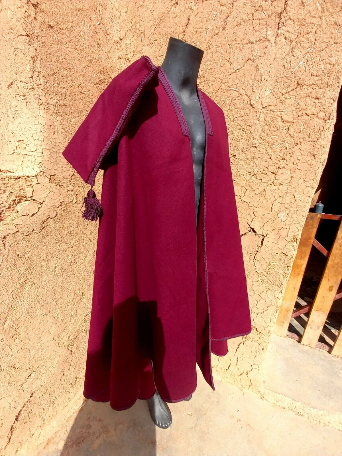 Last one Luxury hooded Cape silham hooded cloak burnouse poncho 150cm length