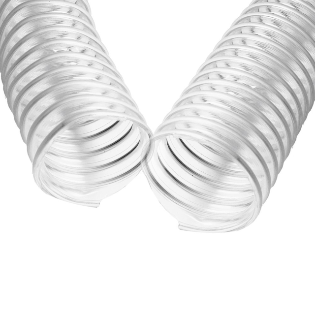 """2 1//2/"""" x 10/' CLEAR PVC DUST COLLECTION HOSE BY PEACHTREE WOODWORKING PW367"""