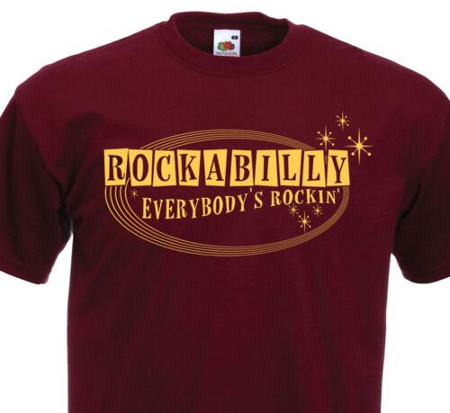 T-Shirt ROCKABILLY 50/'s 60/'s Retro Design Vintage Oldies Rock/'n/'Roll Rockin/' SUN