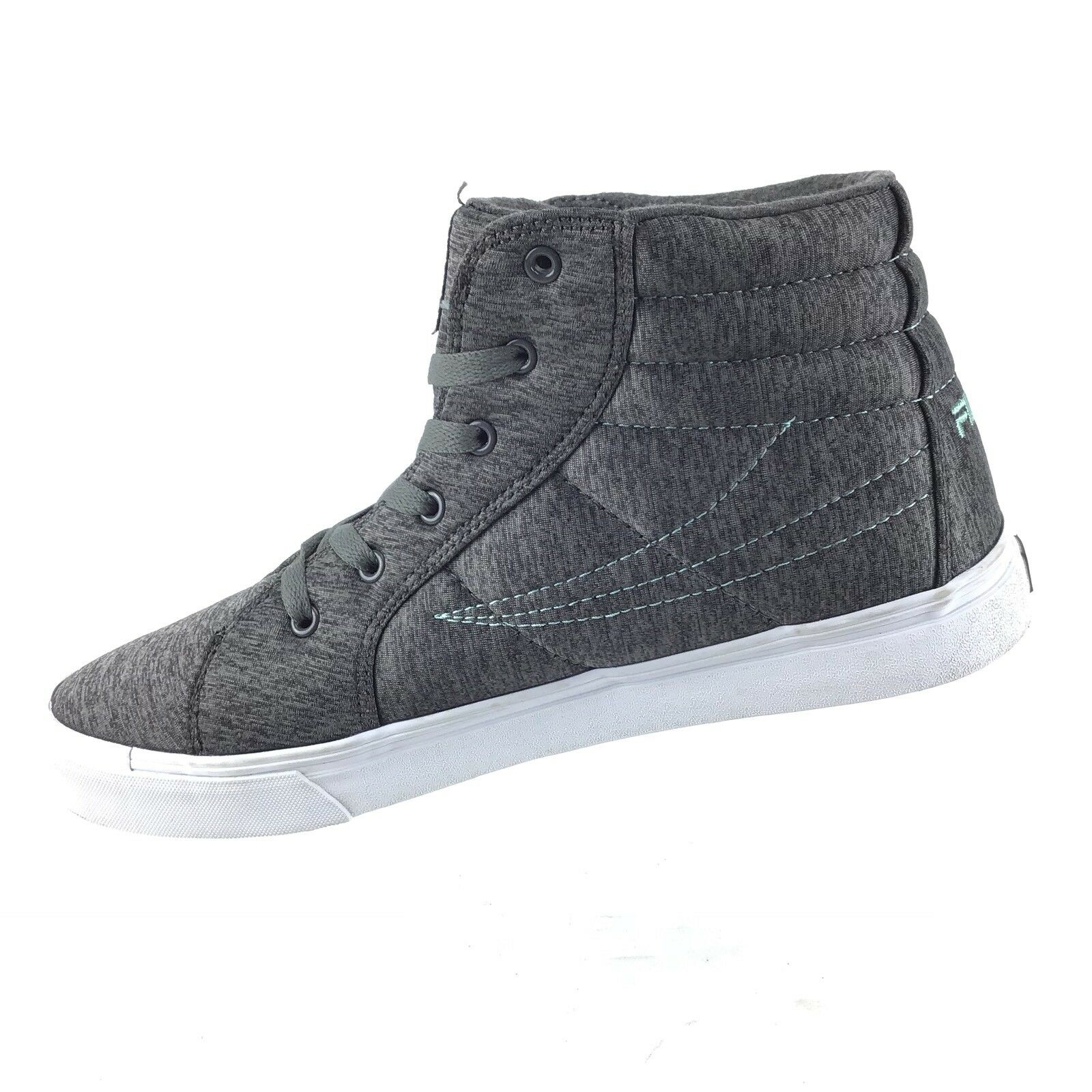 quality design cf623 91d0a ... Fila mujeres es cortina de humo humo humo gris High Top Sneakers Casual  Lace Up zapatos ...