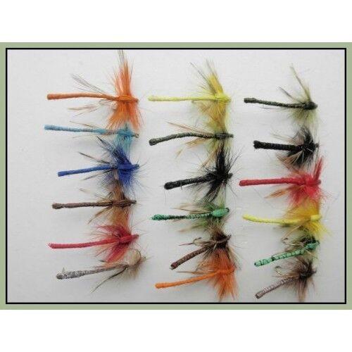 Trote Mosche Donzelle 18 F colori misti Taglia 10 Dragon le mosche per pesca a mosca