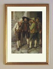 Andreas Hofer Lagebesprechung um 1901 von Franz Defregger K&K 28 im Goldrahmen