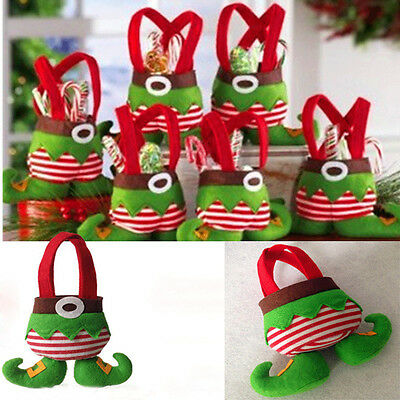 2015 New Christmas Santa Elf Candy Bags Party Home Decor Gifts Present Filler