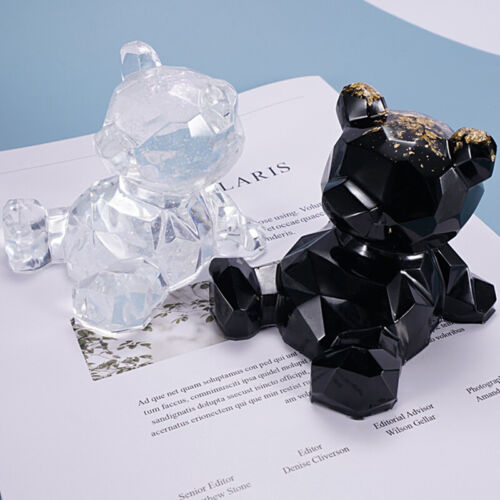 3D Bear Silicone Resin Mold Crystal Epoxy Casting Mould DIY Phone Holder Crafts