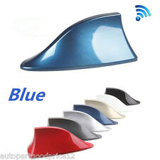Blue Shark Fin Styling Roof Radio AM/FM Signal Aerial Antenna Car SUV Universal