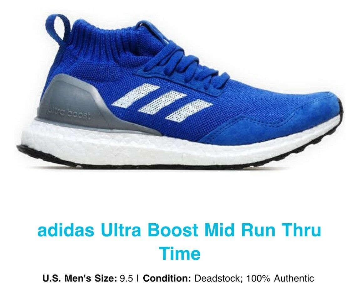 Adidas Ultra Boost Mid Run 9.5 Thru Time Blue Size 9.5 Run 010854
