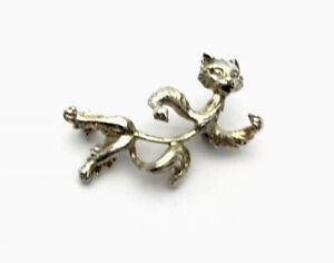 Vintage Sterling Silver DANCING COMIC CAT Brooch - GIFT BOXED