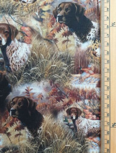 Show Dogs fabric UK 100/% cotton material countryside dogs farming working