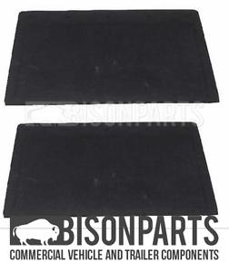 "*DAF TRUCK PLAIN BLACK RUBBER MUDFLAP 22/"" X 16/"" 558x406mm PAIR BP83-107 X 2"