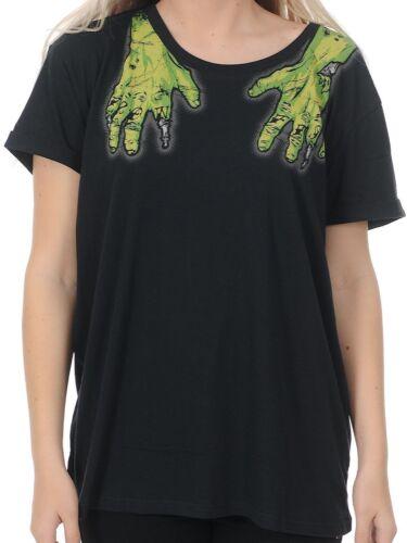 Iron Fist Zombie Hands Second Base women/'s shirt top Halloween punk