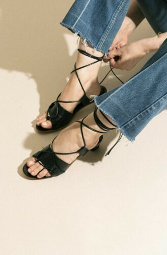 Martiniano Brubu Heeled Strappy Sandals, Black, 37