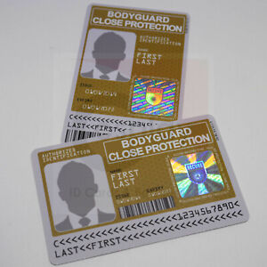 Novelty-Bodyguard-ID-Card-with-Real-Hologram-Close-Protection-Officer-ID-Card