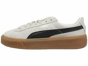 9de37901a58 PUMA Suede Platform Core White   Black Women s Sneakers 363559-01