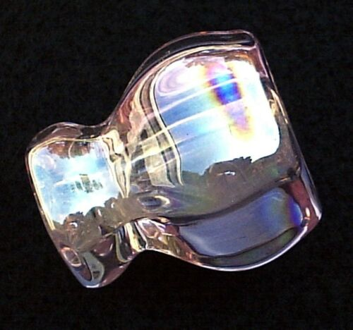 3 Depression PINK CARNIVAL GLASS Cabinet Knobs Drawer Pulls Vintage Victorian
