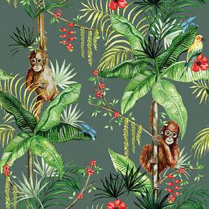 Serviette-034-Orangutan-034-grun-33-x-33-cm-20er-Packung-Ambiente-Europe-Serviette