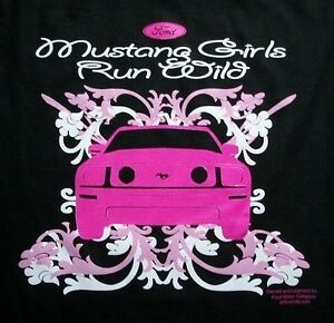 Mustang-Girls-Run-Wild-Shirt-Ford-Official-Licensed-car-ladies-Small-5X