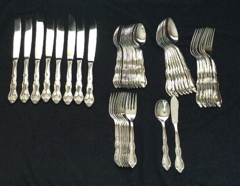Towle stainless Romance mixed lot of 49 pieces 7 place settings EUC polished