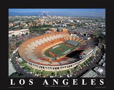 LOS ANGELES CALIFORNIA COLISEUM USC TROJANS FOOTBALL 8X10 GLOSSY PHOTO