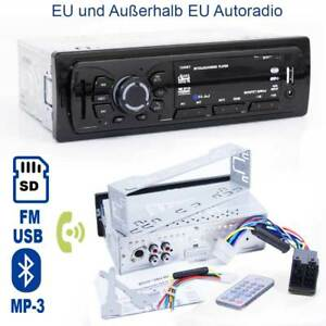 autoradio mit mp3 sd usb player fm radio mit bluetooth f r. Black Bedroom Furniture Sets. Home Design Ideas
