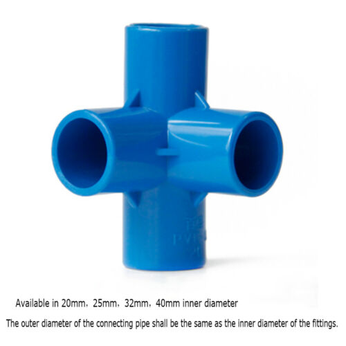 4//5//6-way Connectors PVC Water Supply Pipe Fittings Blue Straight,Elbow Tee