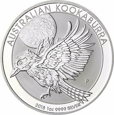 WohltäTig Australien Kookaburra 2018 Silbermünze 1 Dollar Australien 1 Oz Silber