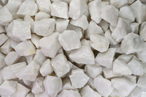 Tumble Rocks Cabbing 1 Pound of Natural White King Quartz Rough Reiki