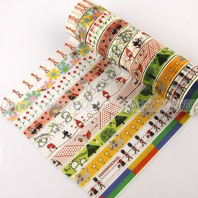 1X Decorative Paper Craft Washi Tape Adhesive DIY Mask Scrapbooking 15mm x 10M
