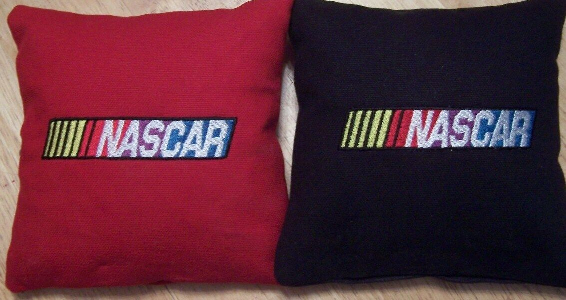 8 Embroidered Nascar Cornhole Bags  Eight Quality Bags  Baggo too  Sweet