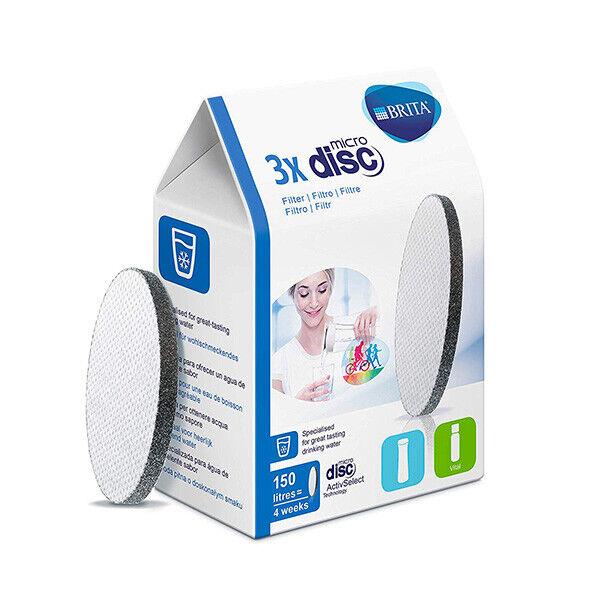 Brita MicroDisc Dischi Filtranti per Acqua Adatti Per BRITA Fill/&Go e Fill/&Serve