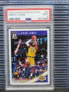 2018-19 Optic Lebron James Base #94 PSA 9 Lakers (89) R19
