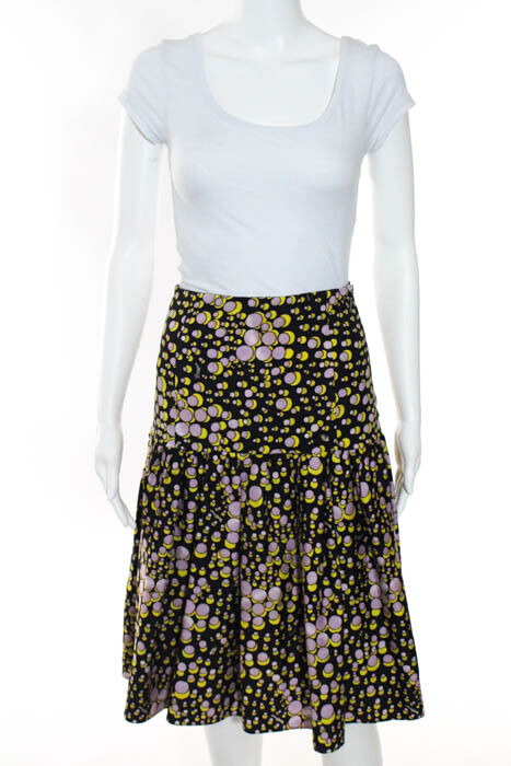 Suno Multi-Farbeee Abstract Print A Line Skirt Größe 2  475 neu 085350