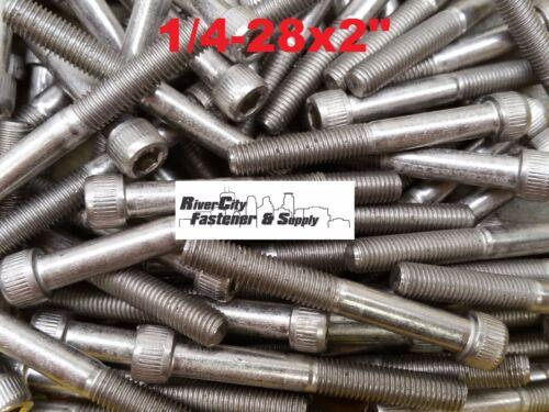 1//4-28x2 Socket Allen Head Cap Screw Stainless Steel Fine Thread 1//4x2 50