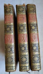 1804 L'Iliade Traduite en vers francais par Aignan rel plein cuir 3 tomes