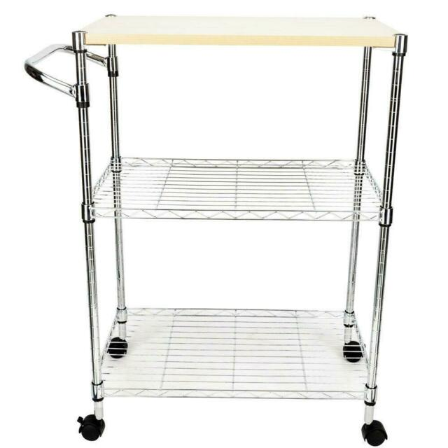 Amazon.com: Origami Folding Kitchen Cart on Wheels | for Chefs ... | 640x640