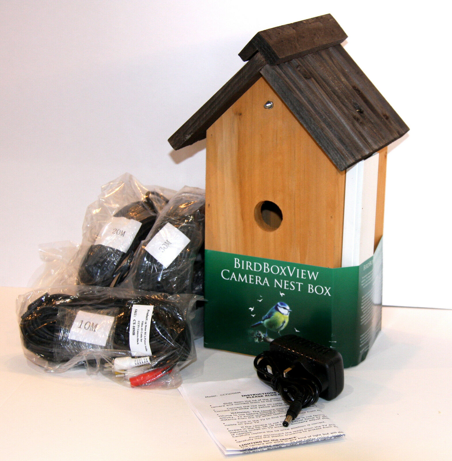 CCTV Colour camera fitted in lovely Birdboxview nestbox.  Choice of cable length