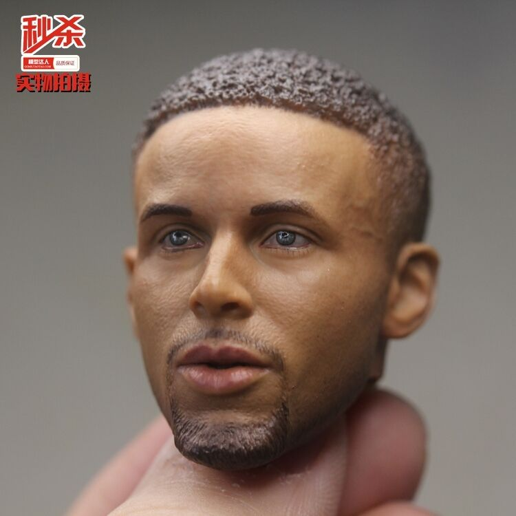 Basketball  Sephen Curry 1 6 Scale Close Mouth Head Sculpt 2.0 Version