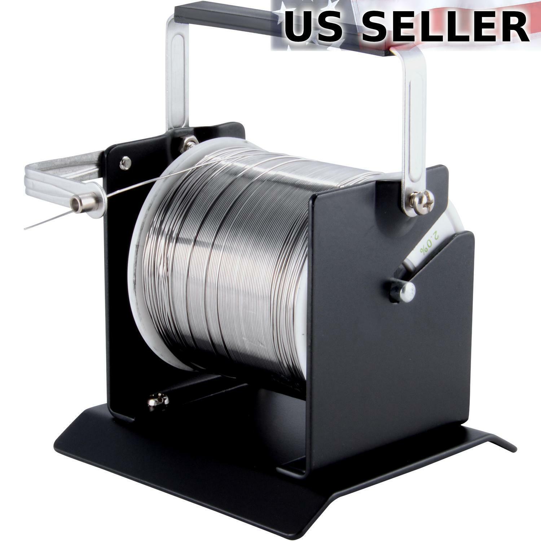Solder Wire Holder Soldering Reel Dispenser Stand Tin Management Spool Feeder TE