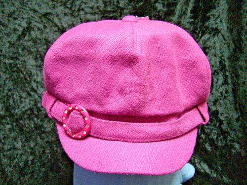 Ruby Cap in Amethyst Deep Orchid by Pia Rossini One Size To 57cm Baker Boy Style