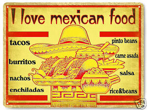 MEXICAN food TACOS METAL SIGN beautiful restaurant kitchen style wall decor 926