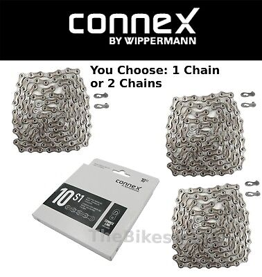 ConneX 10S1 10-Speed Bike Chain Hollow-Pin 114L fits SRAM Shimano Campy Road MTB