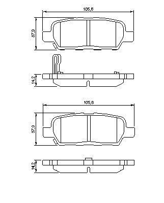 Fits Nissan Qashqai J10 Jj10 2007-2015 Vetech Rear Brake Pad Set