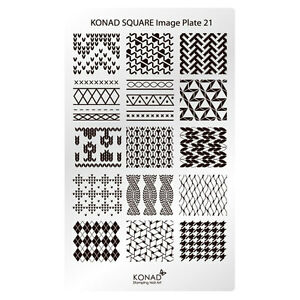 Image Is Loading Konad Stamping Nail Art Square Plate 21