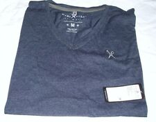Mens Casual Shirt Marc Ecko Navy V Neck Cotton T-Shirt Size M New