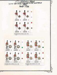 Gibraltar-1970-Uniforms-Pl-Blks-4-SC-234-237-SG-248-251-MNH-20
