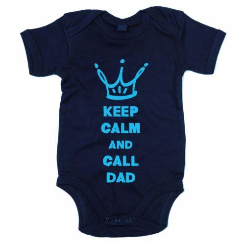 Superheld rufen Ruhe bewahren Papa Vater Baby Body Keep calm and call Dad