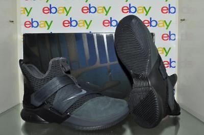 hot sale online 3b983 ef441 Nike LEBRON Soldier XII SFG Mens Basketball Shoes AO4054 002 Gray/Black NIB