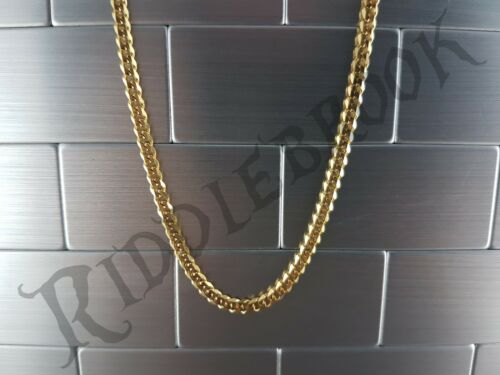 Gold 3.5mm x 500mm Stainless steel curb Chain necklace link twist mens womens