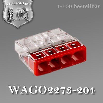 100 WAGO 2273-204 Dosenklemme 4 x 2,5  0,5 bis 2,5 mm²