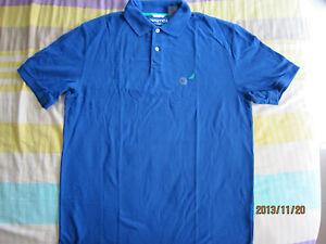 Nautica-Classic-Fit-Men-Blue-Collared-T-Shirt-XL-1pcs