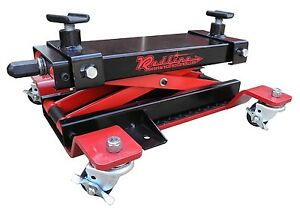 redline motorcycle atv center stand dolly frame jack rolling low profile ebay. Black Bedroom Furniture Sets. Home Design Ideas
